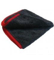 "PREMIUM RED-LINE MICROFIBER TOWEL, 16"" X 16"""