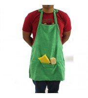 Microfiber Detailing Apron with Pockets & Hook & Loop Straps for Cords