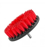 Carpet Brush w/ Drill Attachment, Heavy Duty, Red
