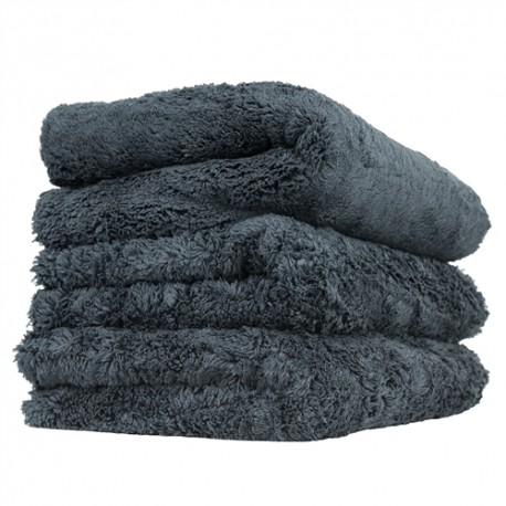 "Happy Ending Edgeless Microfiber Towel, Black, 16"" x 16"""