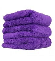 "Happy Ending Edgeless Microfiber Towel, Purple, 16"" x 16"""