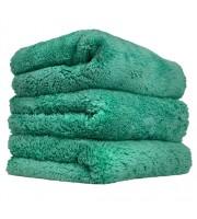 "Happy Ending Edgeless Microfiber Towel, Green, 16"" x 16"""